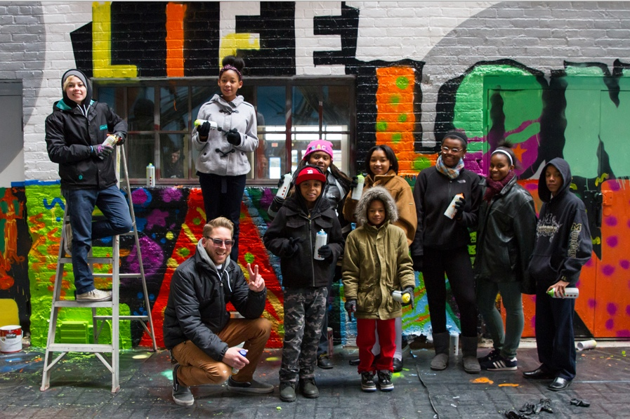 Students and Mural - Opportunity Detroit Blog