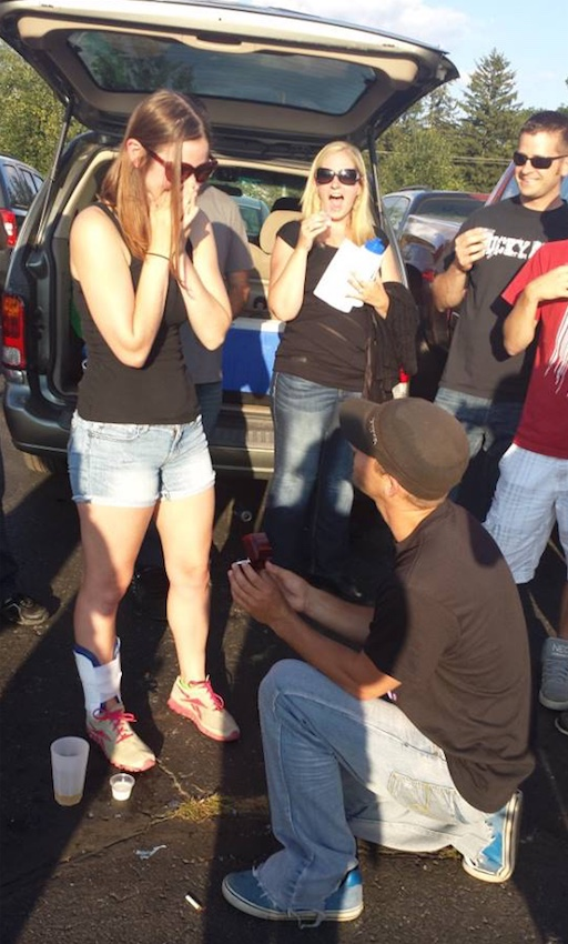 Lauren Russell was proposed to at a Kid Rock concert in 2014.