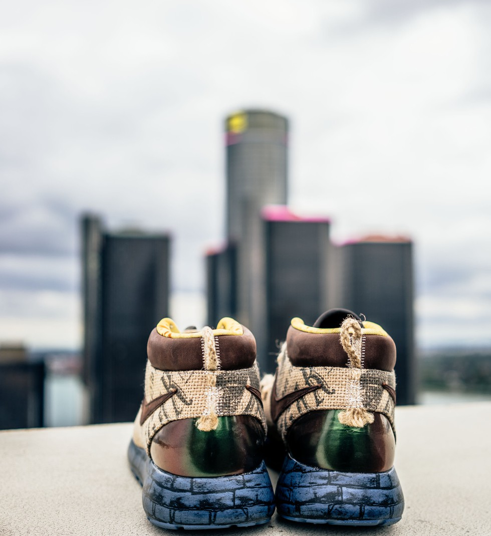 Nojo Kicks Fuses Detroit's Skyline With Sneakers In 'Rare Views With Rare Kicks' - Opportunity Detroit Blog