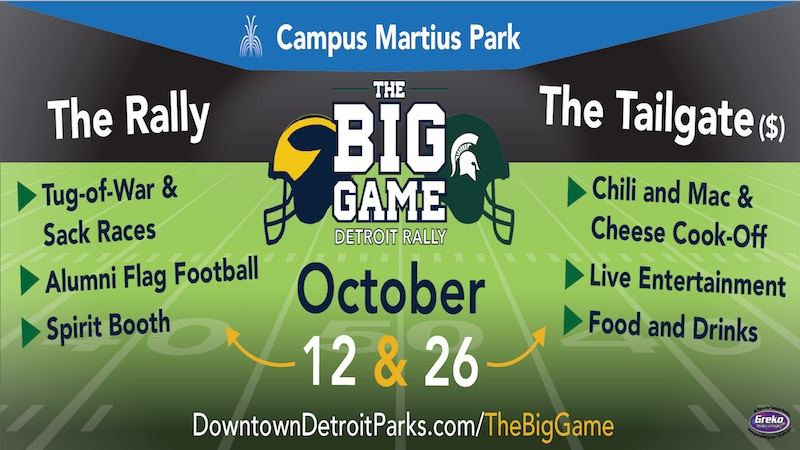 The Big Game Detroit Rally Returns October 12 & 26