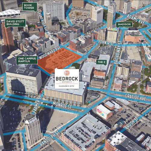 Detroit's Going Vertical With Hudson Site Construction Plan - Opportunity Detroit