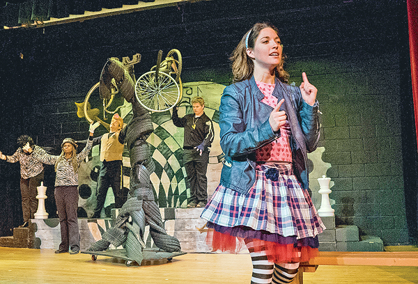 "The Park Players Present ""Alice Through The Looking Glass"" - (Image MetroTimes)"
