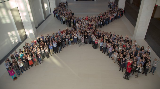 TEDx Attendees In An X-formation