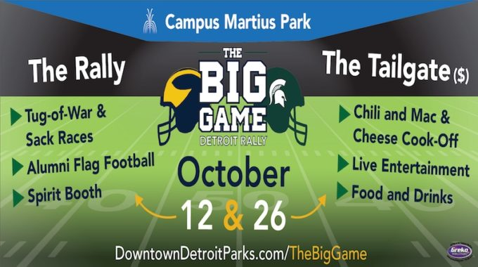 The Big Game Detroit Rally Returns October 12 & 26 - Opportunity Detroit