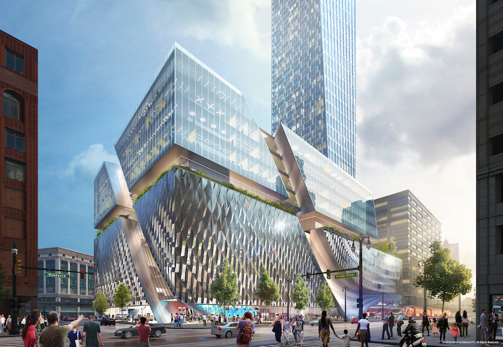 Detroit's Going Vertical With Hudson Site Construction Plan