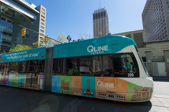 QLINE Detroit Rolls Down Historic Woodward Avenue