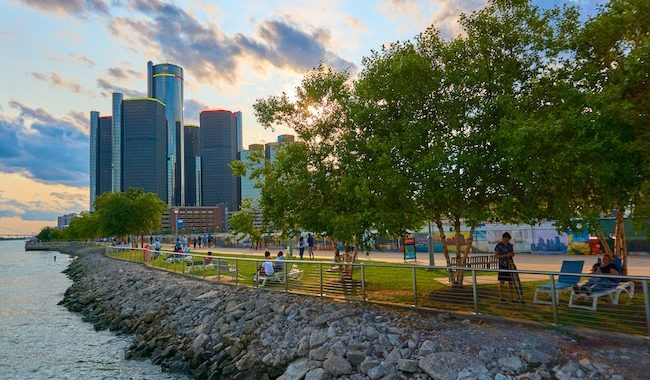 Riverfront Reflections: Detroit's Riverwalk Is A Playground For All Ages - Opportunity Detroit